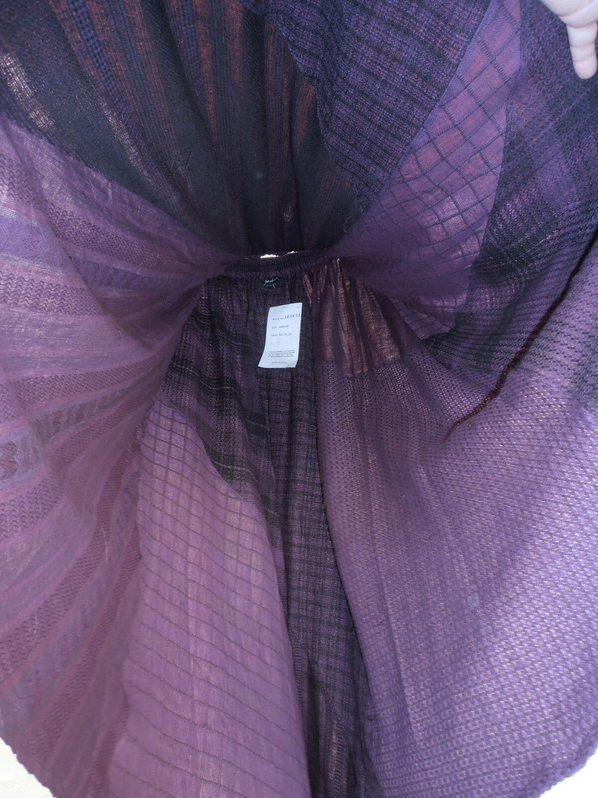 Plum SKIRT renaissance style full skirt PURPLE 90S SHADES TIE DYED MATERIALS NWT