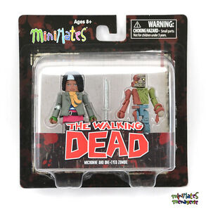 The Walking Dead Minimates Series 6 Minifigure 2-Pack Deputy Michonne /& Winter Zombie by Diamond Select