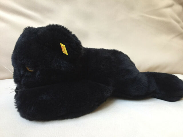Vintage  Steiff Cosy Panther EAN 5370/28  Germany ID Button Flag