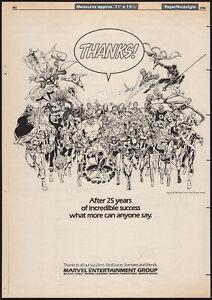 MARVEL COMICS__Original 1986 Trade print AD / poster__25th Annv.__Avengers_X-Men
