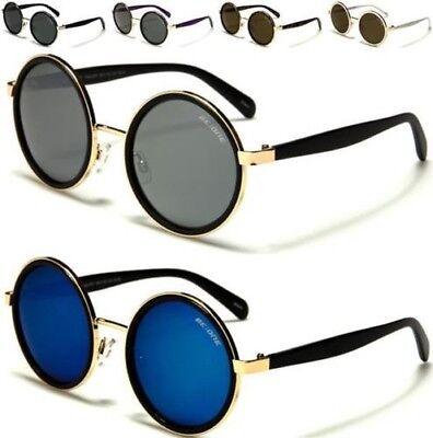 Designer Rotondo Piatto Lens Occhiali da sole Big vintage con UV400 Da Uomo Donna