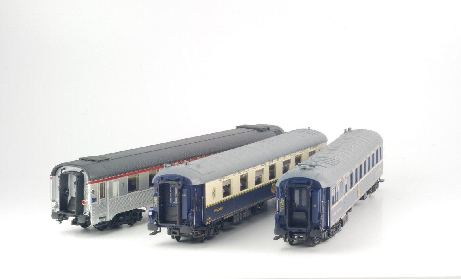 LS modelloli 41106 SNCF CIWL Set 3x Le Mistral Inox pullm Ristorante WR Ep3 NUOVO OVP