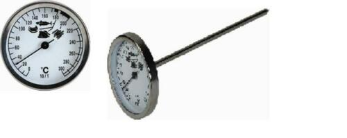 Stechthermometer Thermometer 0°C bis 300°C Fritteuse