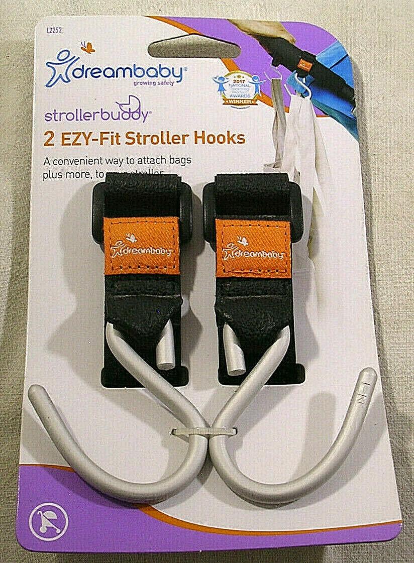 2pk Dreambaby L2252 Stroller buddy Ezy-Fit Stroller Hooks