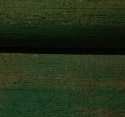 "Silk dupioni two tones luxury looking two tones rust green 54"" wide 27 yds"