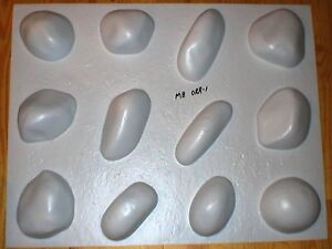 12 RIVER ROCK MOULDS #OOR-05 MAKE 1000s OF CEMENT STONES FOR FIREPLACES & WALLS