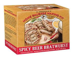 Details about Hi Mountain Jerky Homemade Sausage Making Kit - Spicy Beer  Bratwurst Sausage