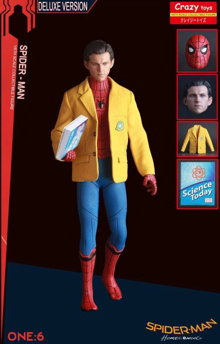 1 6 Spider Man Homecoming Crazy Toys Doll Action Figure Deluxe Christmas Gift