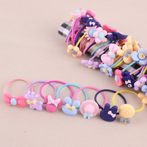 10x Baby Girl Candy Color Hair Band Elastic Hair Ropes Scrunchie Ponytail Holder