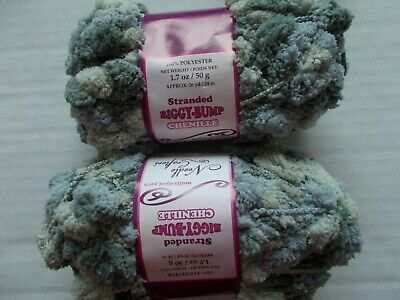 lot of 2 gray tones Needle Crafters Stranded Biggy-bump chenille yarn