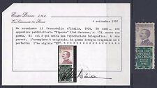 REGNO 1924-25 Pubblicitari 50c PIPERNO MNH** (RV) Certificato