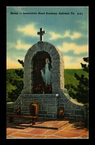 DR-JIM-STAMPS-US-IMMACULATE-HEART-ACADEMY-SHRINE-ASHLAND-PENNSYLVANIA-POSTCARD