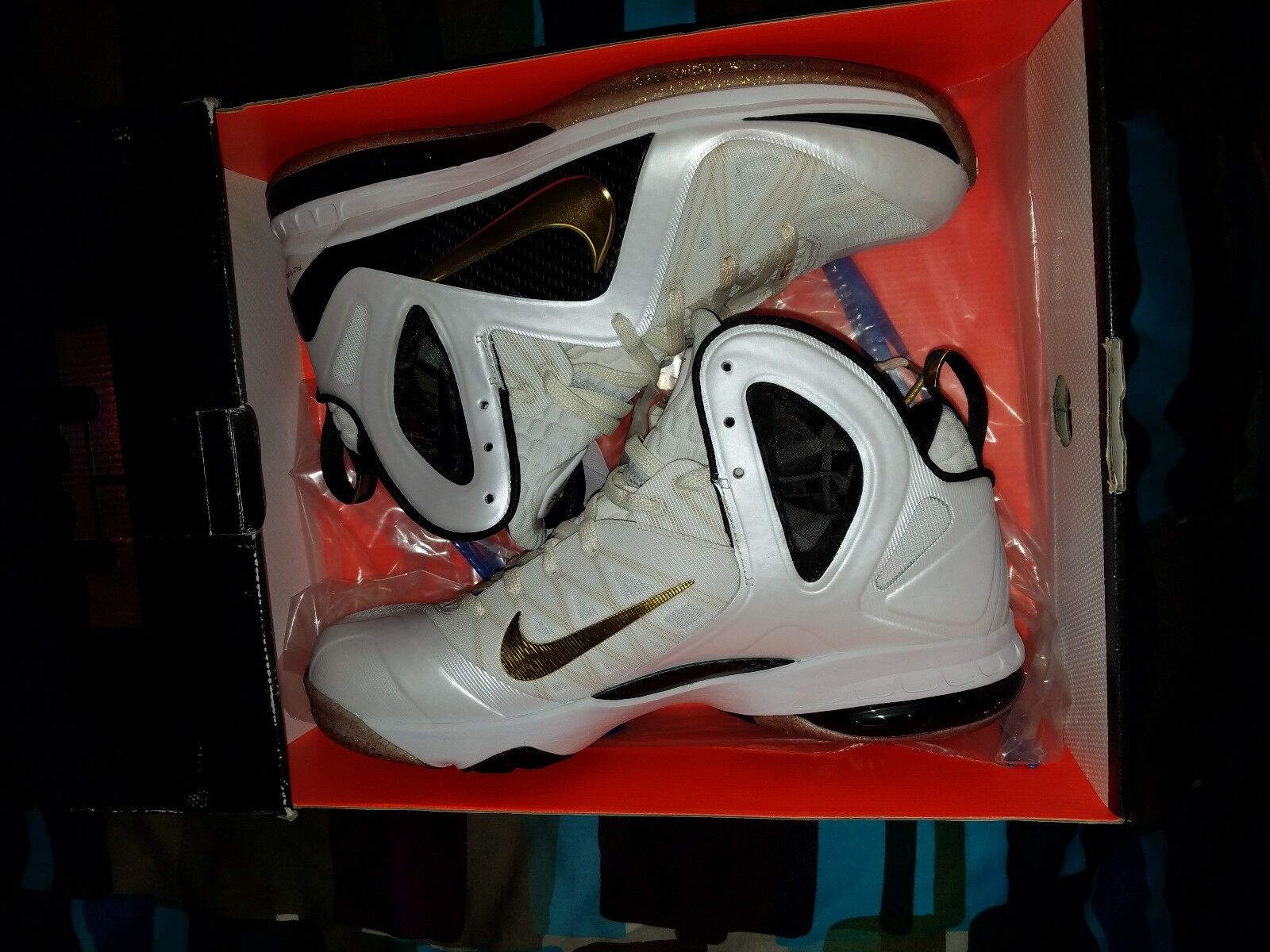 7366a6347d 100% Authentic Nike Lebron 9 home New Size Ds Elite 12 nyrkih8036 ...