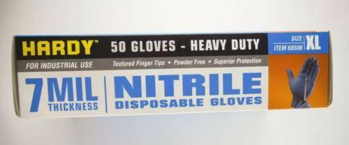 XL Heavy Duty Powder /& Latex Free Nitrile Gloves 7 mil Blue 50 pcs New Boxed