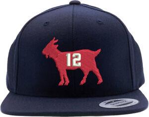 New-England-Patriots-Tom-Brady-Goat-Embroidered-Snapback-Hat