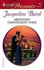 Aristides' Convenient Wife, Baird, Jacqueline, 0373126301, Book, Acceptable