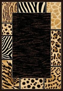 6 X 8 African Safari Animal Skins Print Border High
