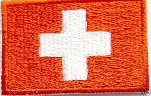 RICAMATE PATCH BANDIERA FLAG BANDIERA SVIZZERA SWITZERLAND Mer