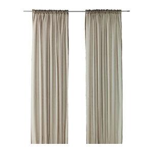 ikea 2 gardinenschals gardinenschal vorhang schlaufenschal gardine beige neu ovp ebay. Black Bedroom Furniture Sets. Home Design Ideas