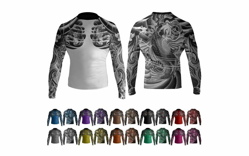 Raven Irezumi 2.0 Long Sleeve Ranked Rashguard