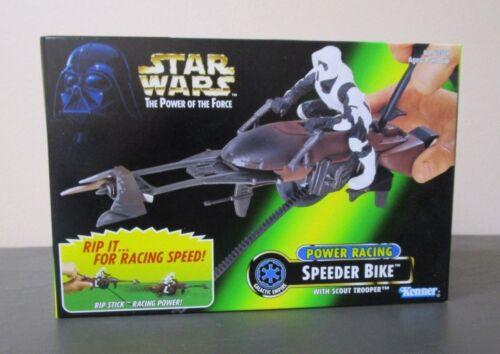 Power Racing Speeder Bike 1997 STAR WARS Power of the Force POTF MIB