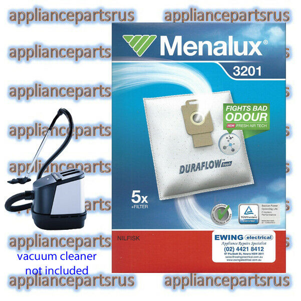 Menalux 3201 Duraflow Vacuum Cleaner Bags for Nilfisk King Extreme Power GM200