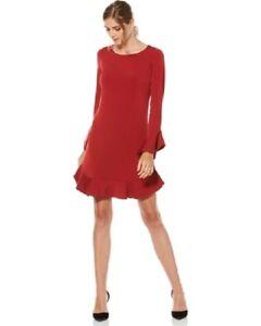 Laundry-By-Shelli-Segal-RUFFLE-SHIFT-DRESS-Size-4-S-29