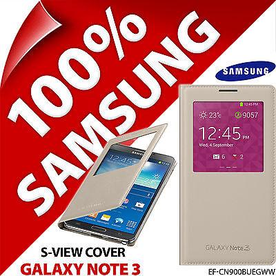 Genuine Original Samsung Galaxy Note 3 S-View Battery Cover Flip Window Case New