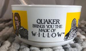 NEW NOS Vintage 1988 Magic of Willow Quaker Oats Promo Bowl & Spoon Lucas Films