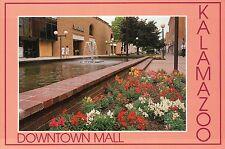 Burdick Street Mall, Kalamazoo Michigan, Jacobson's Store, Fountain --- Postcard