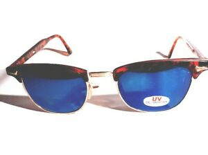 eyez-Brand-Sunglasses-Tortoise-Shell-with-Gold-Wire-Rims-Retro-Style-New