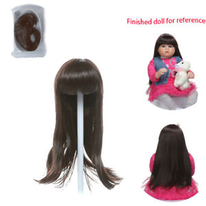 Reborn Doll Supplies Mohair Straight Hair Wig for Newborn Baby Looks Real