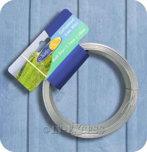 042 Charles Rose Galvanised Garden Plant Fencing Wire 1.5mm x 100 Metres