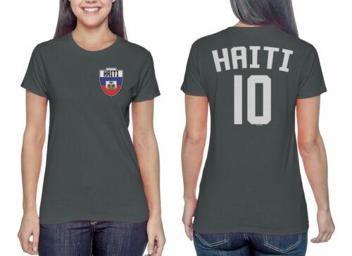 Haiti Soccer Football Futbol Ladies T-Shirt Haitian