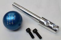 Camaro/firebird Billet Aluminum Blue 6 Speed Shift Knob W Short Shifter Stick