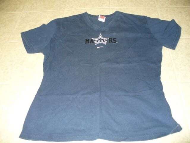 competitive price e6758 512a9 Seattle Mariners Nike Team Size XL 16-18 navy blue v-neck women s tee