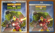 Iron Man Hulk: Heroes United (Blu-ray and DVD, 2013, 2-Disc Set) - No Digital