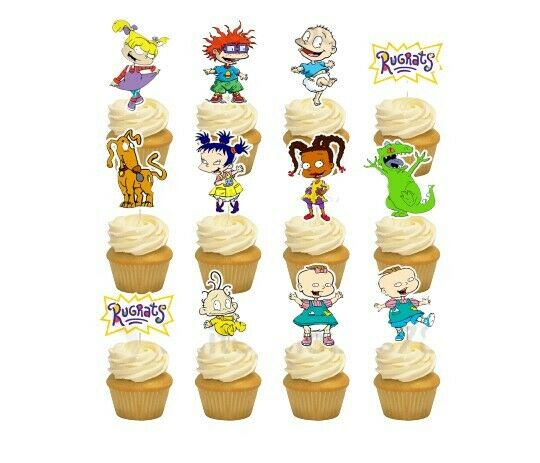 12 Rugrats Cupcake Cake Topper Food Pick Favor Party ...