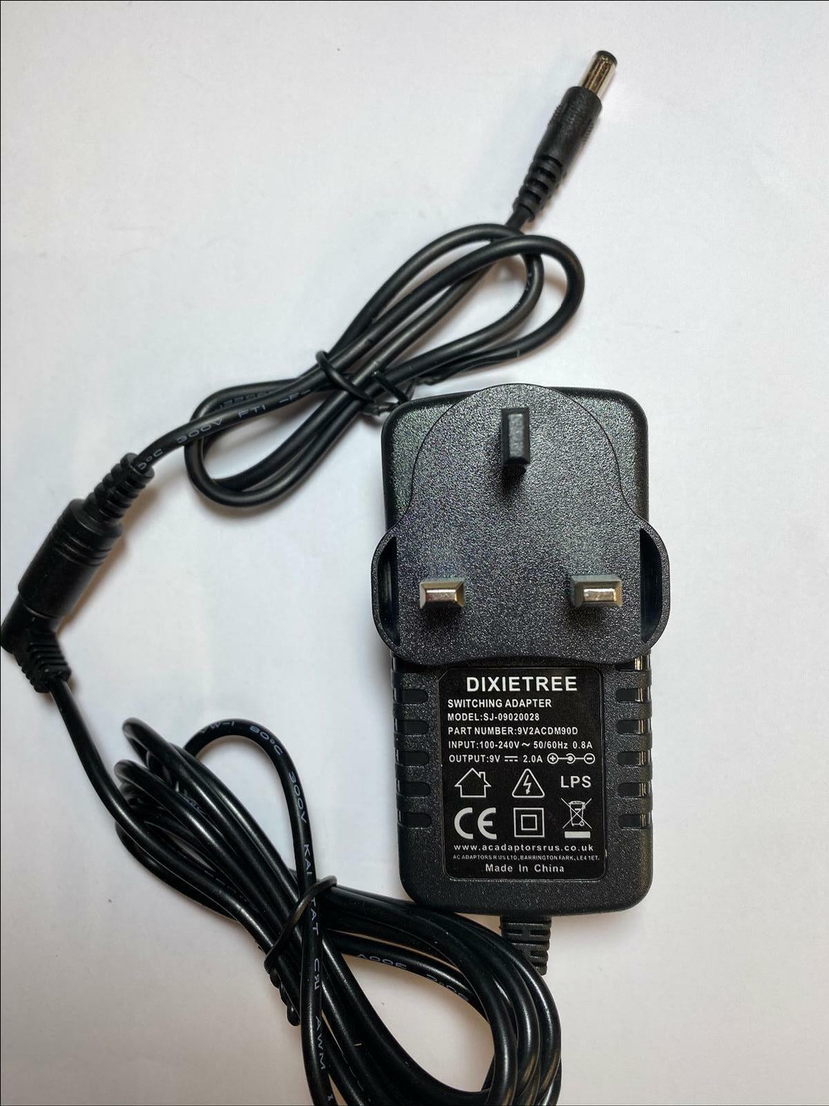 9V 9.0V 2.0A 2A 2000mA AC-DC Switching Adaptor Power Supply Negative Centre UK