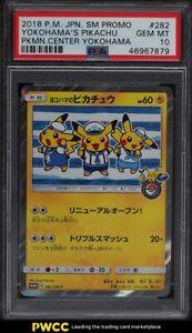 2018-Pokemon-Japanese-S-amp-M-Promo-Center-Yokohama-039-s-Pikachu-282-PSA-10-GEM-MINT