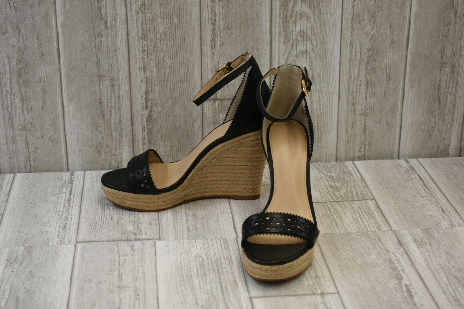 Botkier Jamie Leather Leather Leather Wedge Espadrille Sandals, Donna  Dimensione 10M, nero e6bc07