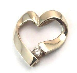 Genuine-Diamond-Heart-Pendant-Yellow-Gold-16-ct-Brand-New