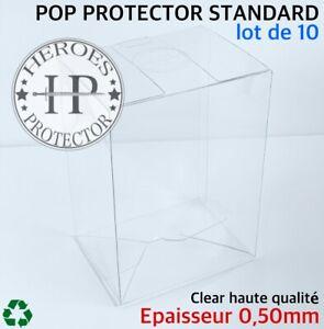 LOT-DE-10-HEROES-PROTECTOR-0-50mm-Funko-Pop-Vinyl-4-034-Protection-Vinyl-Box-Case
