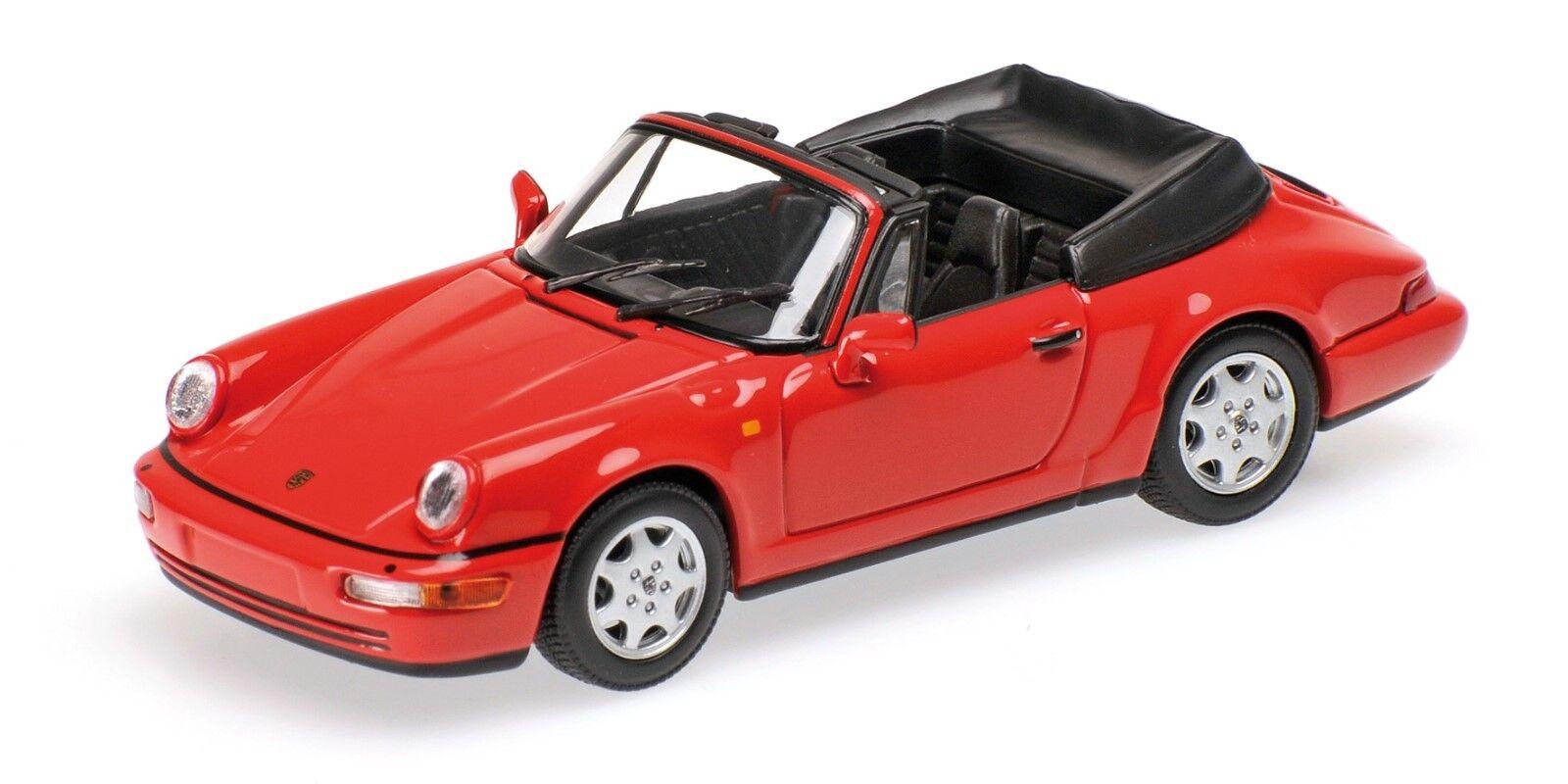 MINICHAMPS  PORSCHE 911 ( 964 ) CABRIOLET  1990   OVP  1 43  ROT  LIM. 504