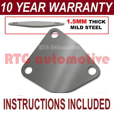 RENAULT KANGOO EASY FIT EGR EXHAUST VALVE BLANKING PLATE 1.5MM STEEL NA