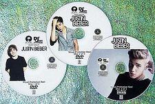 JUSTIN BIEBER Visual Promo Music Video Reel 3 DVD Set 52 Videos PURPOSE 2016