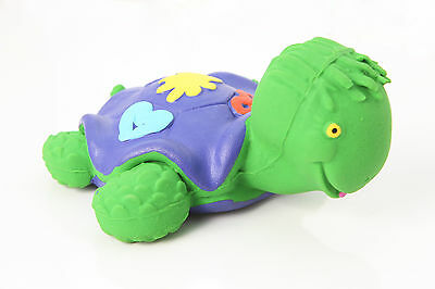 LANCO 100% Natural Rubber Green Turtle Baby Teether Sensory Bath Time Toy $22.95