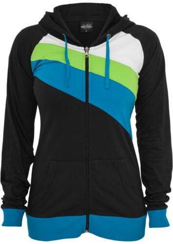 Urban Classics Ladies 3-color Jersey Hoody Tracksuit Top Sports Jogging Jacket