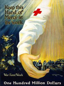 Vintage War POSTER.Red Cross NURSE.Room Wall Decor.Home decoration.1062