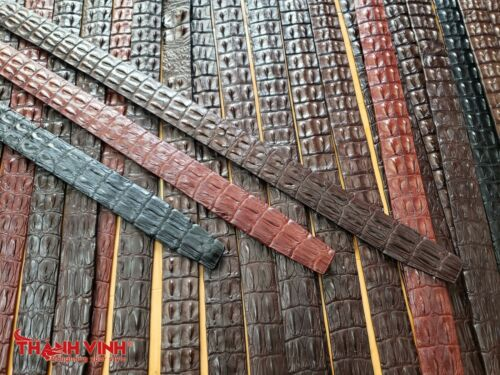 Handmade Genuine Alligator//Crocodile Belt Double Hornback Leather Skin